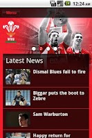 Screenshot of The Official WRU App