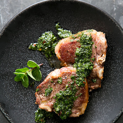 Lamb Loin Chops with Mint Chimichurri