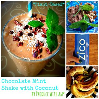 CHOCOLATE MINT SHAKE WITH COCONUT