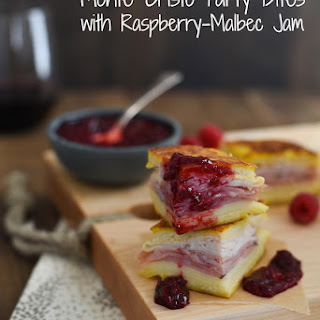 Monte Cristo Party Bites with Raspberry-Malbec Jam