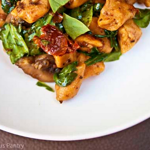 Clean Eating Sweet Potato Gnocchi With Mushrooms And Sun Dried Tomatoes