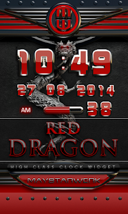 How to download dragon digital clock red 2.30 unlimited apk for bluestacks