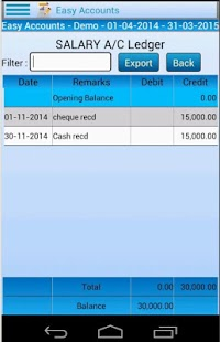 Easy Accounting Lite- screenshot
