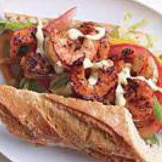 Blackened Shrimp Po'Boy