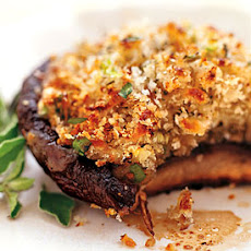 Mozzarella-Stuffed Grilled Portobellos with Balsamic Marinade