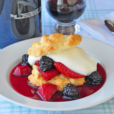 Drunken Berry Shortcakes