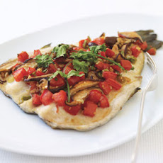 Baked Trout with Shiitake Mushrooms, Tomatoes, and Ginger