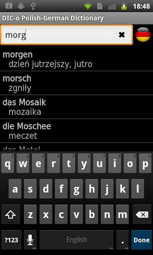 Polish - German offline dict.