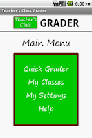 Screenshot of Teacher's Class GRADER PRO