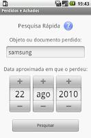 Screenshot of Perdidos e Achados