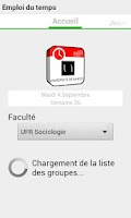 Screenshot of Emploi du temps Univ Nantes