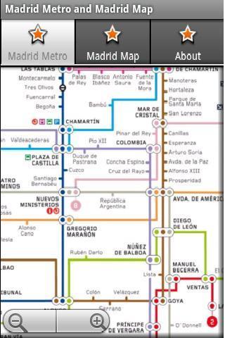 马德里地铁运行图 马德里地图