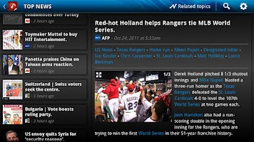 Screenshot of News Republic for Google TV