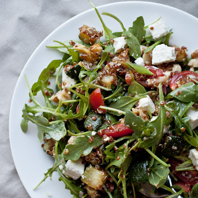 Red Quinoa Arugula Salad