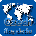 Czech Republic flag clocks icon