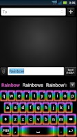 Screenshot of GO Keyboard Rainbow Glow Theme