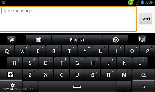 App Keyboard Black Elegant apk for kindle fire