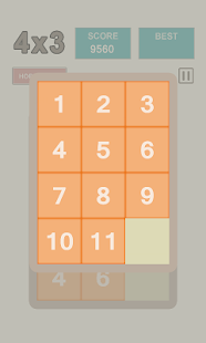 4x3 Sliding puzzle game - screenshot