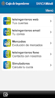 Screenshot of Caja de Ingenieros