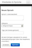 Screenshot of Lebensweisheiten & Sprüche