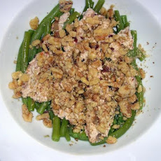 Marinated Goat Cheese and Walnuts Meets  Green Beans