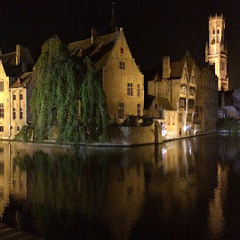 Bruges at Night by Ludwig Wagner - Instagram & Mobile iPhone