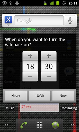 wifi-timer for android screenshot