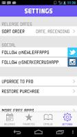 Screenshot of SC - Nike/Jordan Release Dates