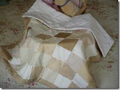 laid folded on moses basket
