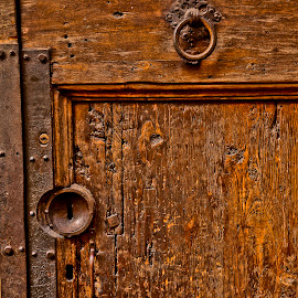 Well used by Gene Myers - Buildings & Architecture Other Interior ( sna, shotsbygene, damaged, urban, handle, wood, old door, lock, brown, rust, italy, gene myers,  )