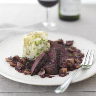 Pan Roasted Venison With Pickled Shallots