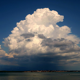 Here comes the rain again by Goran Borjanić - Landscapes Cloud Formations ( clouds, adriatic, croatia, zadar, rain )