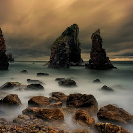 Crohy by Slawomir Majchrzak - Landscapes Waterscapes ( ireland, cliff, sea, beach, rocks )