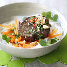 Grilled Beef, Carrot & Rice Noodle Salad