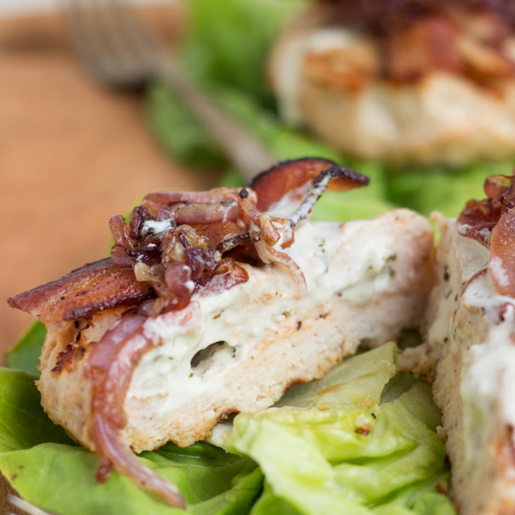 ... Stuffed Turkey Burgers with Bacon & Caramelized Onions Recipe | Yummly