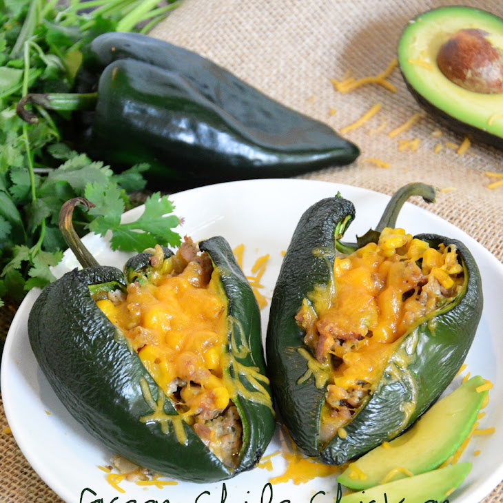 ... Chile Chicken Sausage & Corn Stuffed Poblano Peppers Recept | Yummly