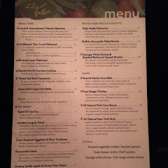 New menu, released 12/20/12. Items that are gluten free or easily modified to be gluten free are mar