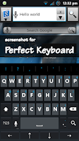 Screenshot of Holo Dark Blue Keyboard Skin