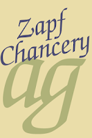Screenshot of Zapf Chancery FlipFont