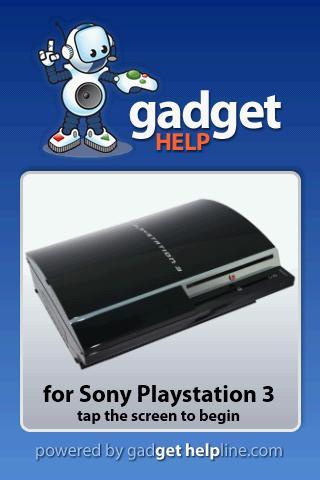Sony Playstation 3 Gadget Help
