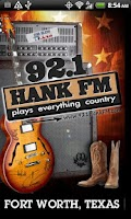 Screenshot of 92.1 Hank FM