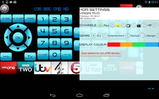 Screenshot of Remote for Virgin Media+TV+DVD