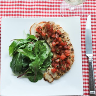 Grilled Chicken with Mediterranean Tomato Topping