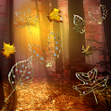 Fall Golden Diamond Leaves icon