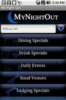Screenshot of MyNightOut