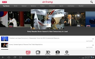 Screenshot of Arirang TV for Tablets