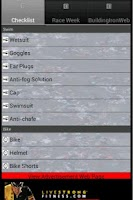 Screenshot of Tri Checklist