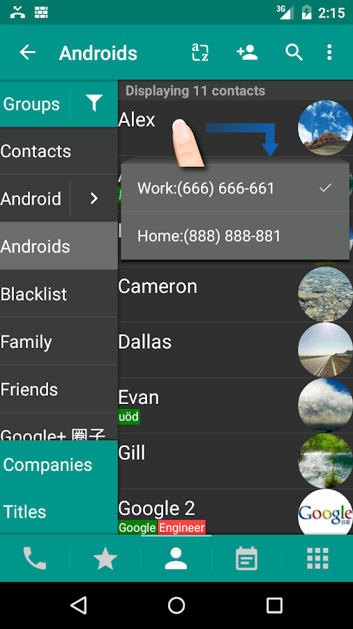 DW Contacts & Phone & Dialer Screenshot 1