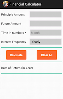 Screenshot of Financial Calculator