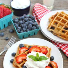 Blueberry Yogurt Waffles